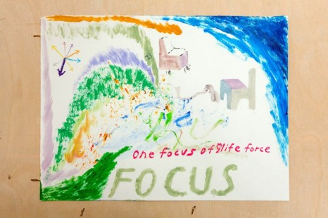Chris Johanson, One Focus Of Life Force, Focus (Drawing for Zoom Meeting Classroom Presentation #2 with Magic Added Later For Peaceful Intention Internal External Reiteration), 2020-21, The Modern Institute