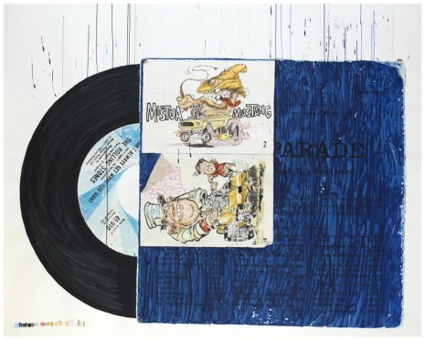 Dave Muller, Doctored Sleeve (Blue), 2012, Blum & Poe