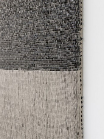 Analia Saban, Woven Angle Gradient as Weft, Black (Three O'Clock), 2020 , Sprüth Magers