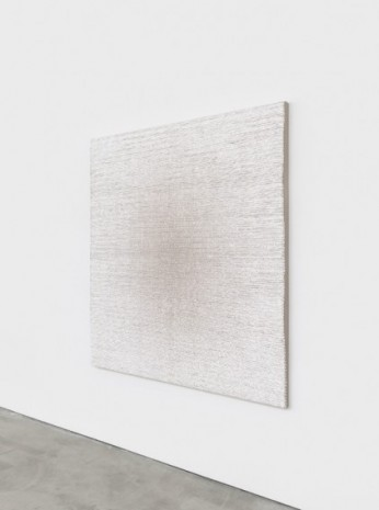 Analia Saban, Woven Radial Gradient as Weft (Linen on White), 2020 , Sprüth Magers