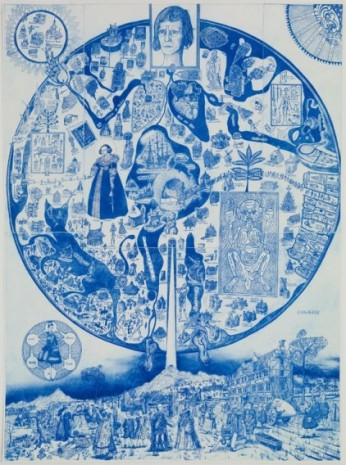 Grayson Perry , Map of Nowhere (blue), 2008, Victoria Miro