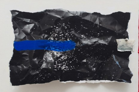 Sarah Sze , Afterimage, Screen with Blue Brush Stroke (Painting in its Archive), 2018, Victoria Miro