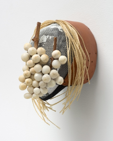 Allison Janae Hamilton, Mask with Braids and Table Grapes, 2021 , Marianne Boesky Gallery