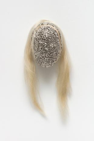 Allison Janae Hamilton, Silver Mask with Pall Mane, 2021 , Marianne Boesky Gallery