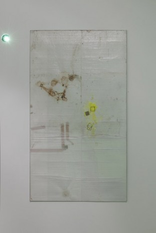Ian Kiaer, Black tulip, offset, stain, 2012, Alison Jacques Gallery