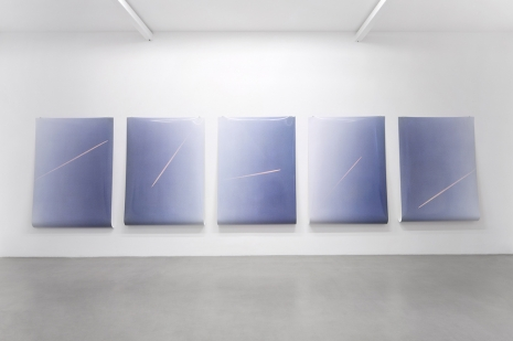 Ann Veronica Janssens, 5 Lines of Pink in the Air, Randomly, 2020 , kamel mennour