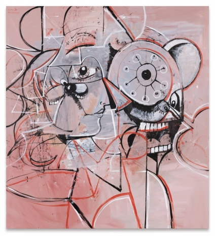 George Condo, Linear Portrait Composition, 2021 , Sprüth Magers