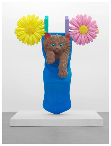 Jeff Koons, Cat on a Clothesline (Blue Sock), 1994-2001, Almine Rech Gallery