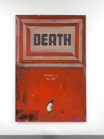 Harland Miller, Death, What's in it For Me?, 2011, Ingleby Gallery