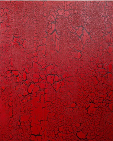 Ed Moses, Red Over Black, 2012, Patrick Painter Inc.