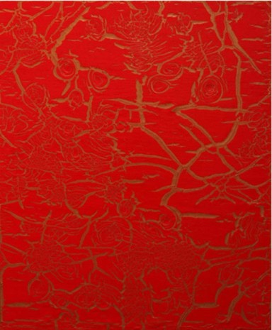 Ed Moses, Red Over Bronze, 2012, Patrick Painter Inc.