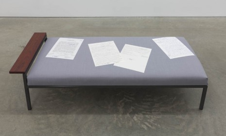 Goshka Macuga, Daybed for the Spirit of Polish Culture, 2012, Andrew Kreps Gallery