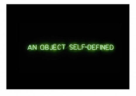 Joseph Kosuth, Self-defined object [green], 1966, Sprüth Magers
