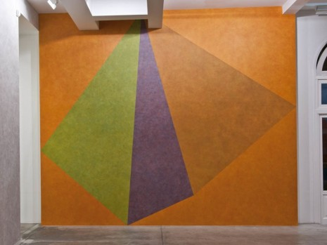 Sol LeWitt, Wall Drawing #459, Asymmetrical Pyramid with Color ink washes superimposed, , Marian Goodman Gallery