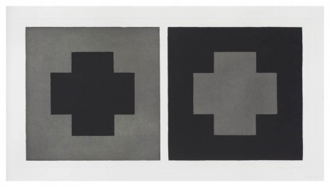 Sol LeWitt, Doubles in Black and Grey #9, 1983, Marian Goodman Gallery