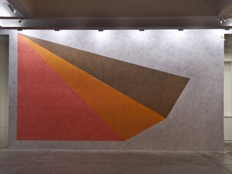 Sol LeWitt, Wall Drawing #443: Asymmetrical pyramid with color ink washes superimposed, , Marian Goodman Gallery