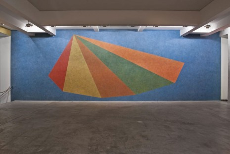 Sol LeWitt, Wall Drawing #770: Asymmetrical pyramid with color ink washes superimposed, , Marian Goodman Gallery