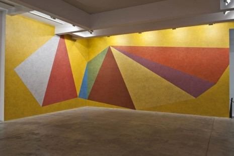 Sol LeWitt, Wall Drawing #457: Double asymmetrical pyramids with color ink washes superimposed, , Marian Goodman Gallery
