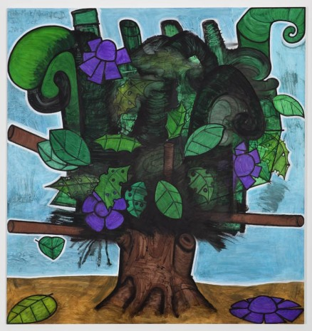 Carroll Dunham, Late Trees #7, 2012, Gladstone Gallery