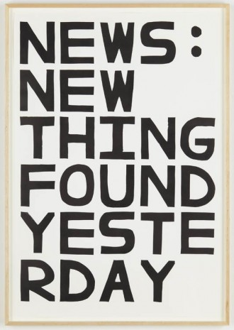 David Shrigley, News: New Things Found Yesterday, 2012, Anton Kern Gallery