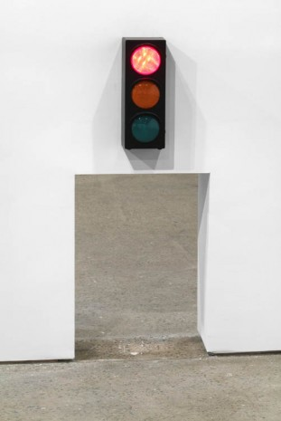 David Shrigley, Hole with Traffic Lights, 2013, Anton Kern Gallery