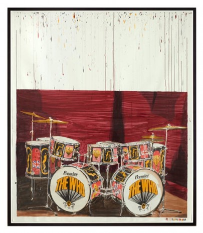 Dave Muller, Empty Drum Kit #3 (K.M.), 2013, The Approach