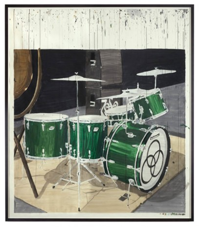 Dave Muller, Empty Drum Kit #5 (J.B.), 2013, The Approach