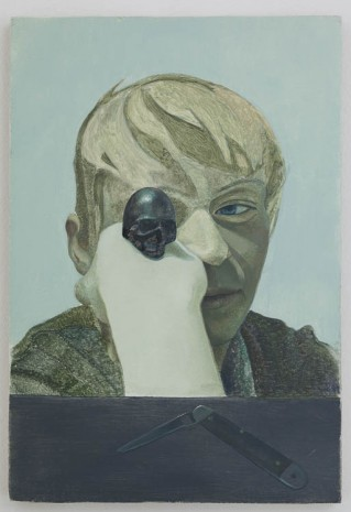 Victor Man, Untitled (S.D. with skull), 2012, Gladstone Gallery