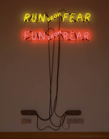 Bruce Nauman, Run from Fear, Fun from Rear, 1972, Hauser & Wirth