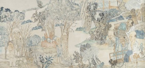 Yun-Fei Ji, Marshall Peng Dehuai and his hungry ghosts, 2007, Zeno X Gallery