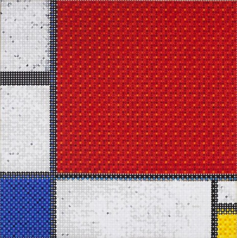 Gabriel Orozco, Mondrian's Composition Grid Red (detail), 2011, Marian Goodman Gallery