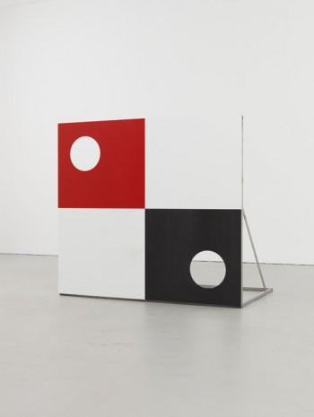 Alan Uglow, Torwand (Red) and Torwand (Blue), 2004, David Zwirner