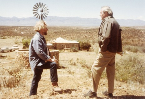 Tiffany Bell, Donald Judd and Dan Flavin at Casa Morales, near Marfa, Texas, 1981, David Zwirner