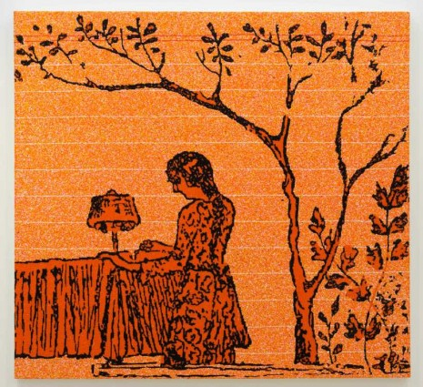Farhad Moshiri, Girl writing under a tree, 2013, Perrotin