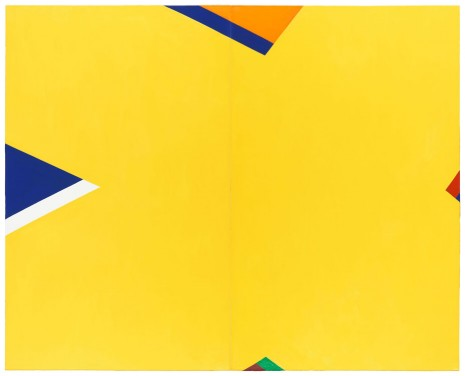 Al Held, THE YELLOW X, 1965, Cheim & Read