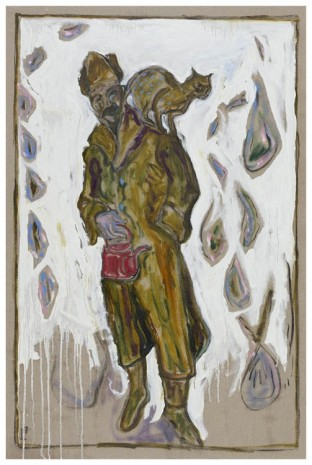 Billy Childish, Self Portrait with Kettle and Cat, 2012, China Art Objects Galleries