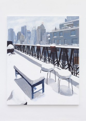 Allison Katz, Snow on the Terrace, 20th Floor, Central Park West, 2013, Office Baroque