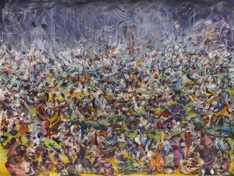 Ali Banisadr, They Build it up just to burn it back down, 2013, Galerie Thaddaeus Ropac