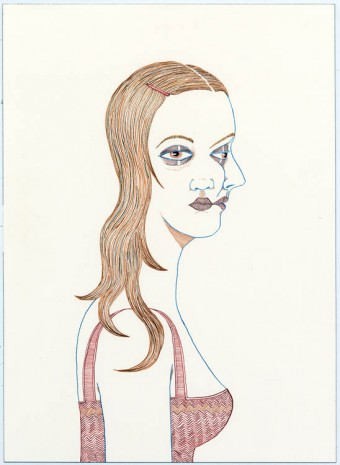 Ed Templeton, Two faced girl, 2012, Tim Van Laere Gallery