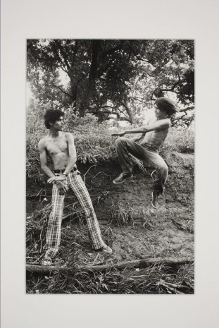 Larry Clark, Playing Kung Fu in the Park, 1975, Simon Lee Gallery