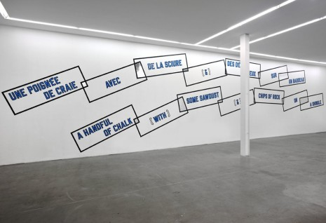 Lawrence Weiner Yvon Lambert (closed)