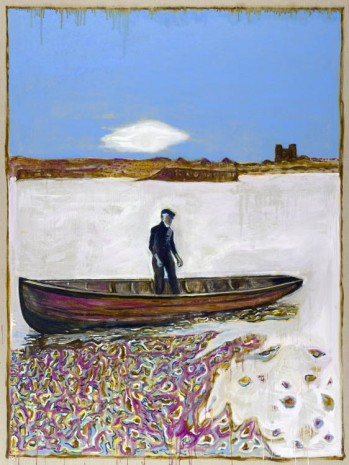 Billy Childish, Moonrise on River (version x), 2012, Lehmann Maupin