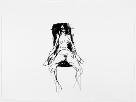 Tracey Emin, Lonely Chair drawing V, 2012, Lehmann Maupin