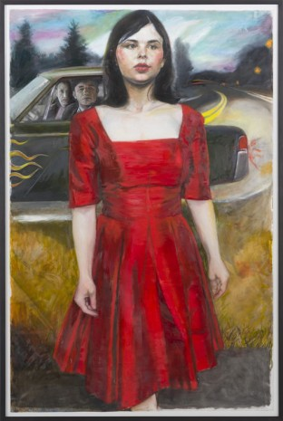 Jenny Scobel, Red Dress, 2013, Zeno X Gallery