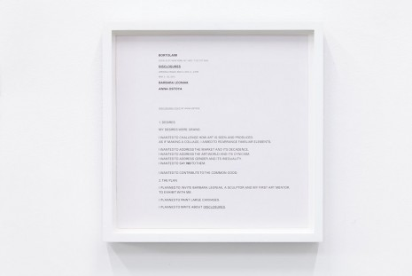 Anna Ostoya, Disclosures (Advertisement), 2013, Bortolami Gallery