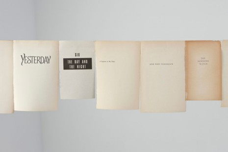 Valeska Soares, Timeline I, 2010, Max Wigram Gallery (closed)