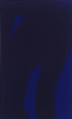 Sara VanDerBeek, Black Nude, Blue, 2013, Metro Pictures