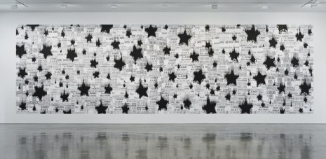 Gary Simmons, Black Star Shower, 2013, Regen Projects