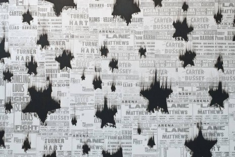 Gary Simmons, Black Star Shower (detail), 2013, Regen Projects
