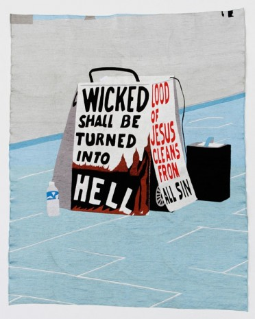 Eko Nugroho, The World Words series (Wicked Shall be Turned Into Hell), 2012, Lehmann Maupin